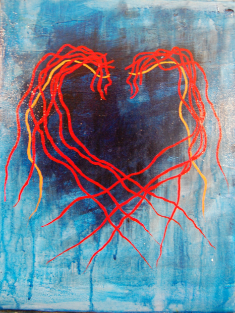 gallery/m 220 heart in blue and red